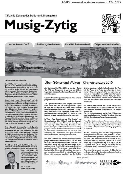 1-2015 www.stadtmusik-bremgarten.ch März 2015