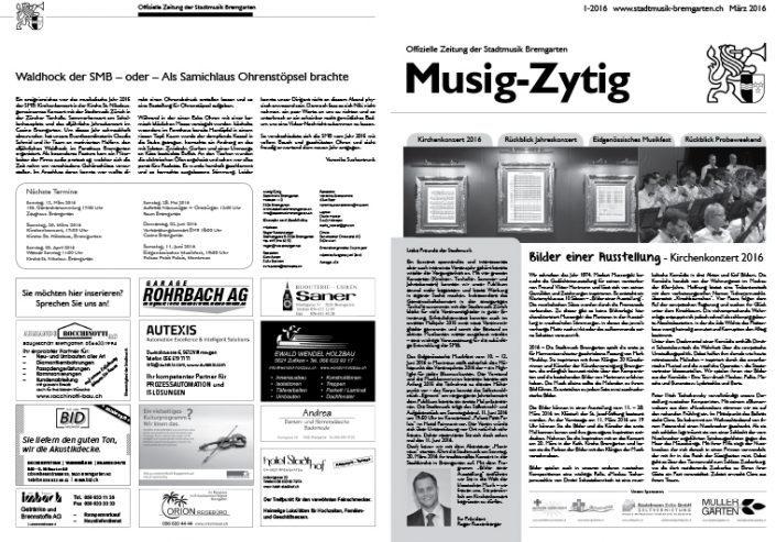 1-2016 www.stadtmusik-bremgarten.ch März 2016