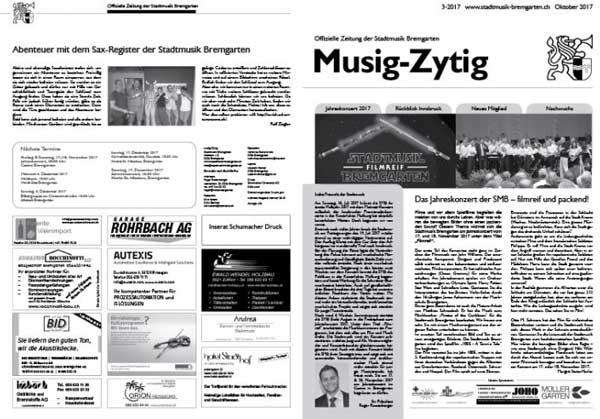 3-2017 www.stadtmusik-bremgarten.ch Oktober 2017